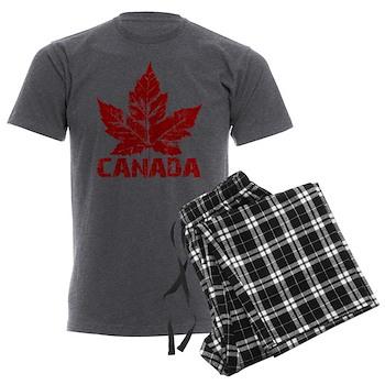 Cool Canada Souvenir Men's Charcoal Pajamas
