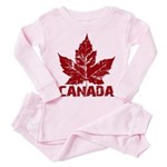 Cool Canada Souvenir Toddler Pink Pajamas