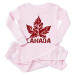 Cool Canada Souvenir Toddler Pink Pajamas