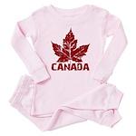Cool Canada Souvenir Baby Pink Pajamas