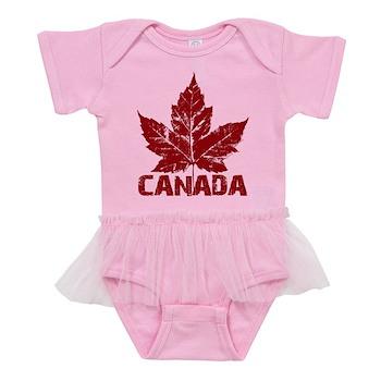 Cool Canada Souvenir Baby Tutu Bodysuit