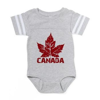 Cool Canada Souvenir Baby Football Bodysuit