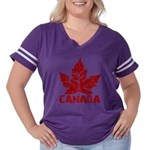 Cool Canada Souvenir Women's Plus Size Football T-