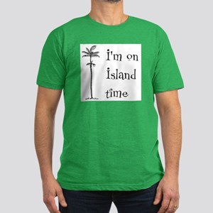 Island Time Men's Fitted T-Shirt (dark)