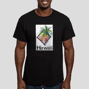 Hawaii - Palms Men's Fitted T-Shirt (dark)
