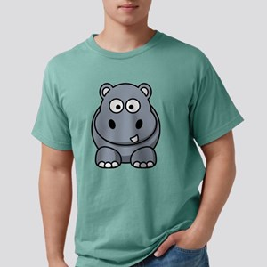 Cartoon Hippo Mens Comfort Colors® Shirt