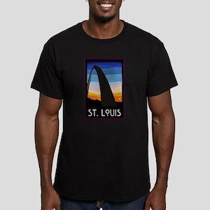 St. Louis Arch Men's Fitted T-Shirt (dark)