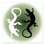 Lizard Art Square Car Magnet 3