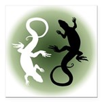 "Lizard Art Square Car Magnet 3"" x 3"""