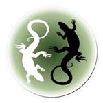 Lizard Art Round Car Magnet