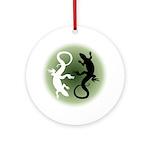 Lizard Art Round Ornament