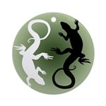 Lizard Art Round Ornament