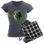 Lizard Art Women's Charcoal Pajamas