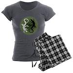 Lizard Art Women's Charcoal Pajamas