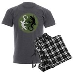 Lizard Art Men's Charcoal Pajamas