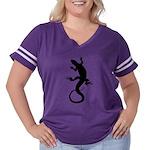 Lizard Art Women's Plus Size Football T-Shirt