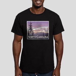 North Carolina Mountains Men's Fitted T-Shirt (dar