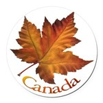 Canada Maple Leaf Souvenir Round Car Magnet