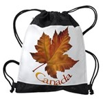 Canada Maple Leaf Souvenir Drawstring Bag