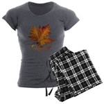 Canada Maple Leaf Souvenir Women's Charcoal Pajama