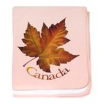Canada Maple Leaf Souvenir baby blanket