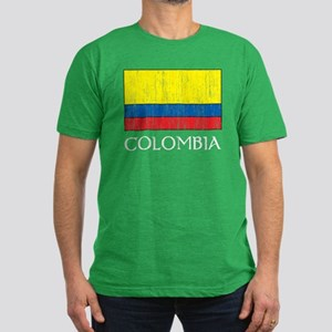 Columbia Flag Men's Fitted T-Shirt (dark)