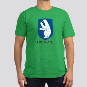 Greenland Coat of Arms Men's Fitted T-Shirt (dark)