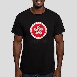 Hong Kong State Emblem Men's Fitted T-Shirt (dark)