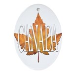Canada Varsity Team Oval Ornament