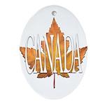 Canada Varsity Team Oval Ornament