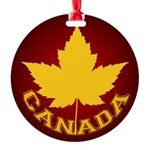 Canada Varsity Team Round Ornament