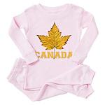 Canada Varsity Team Toddler Pink Pajamas