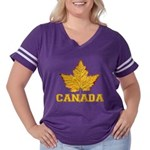 Canada Varsity Team Women's Plus Size Football T-S