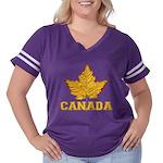 Canada Varsity Team Women's Plus Size Football T-S