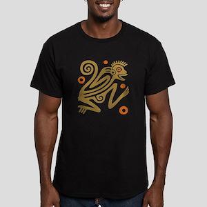 Tribal Monkey Men's Fitted T-Shirt (dark)