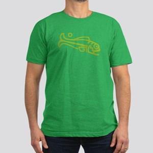 Primitive Salmon Men's Fitted T-Shirt (dark)