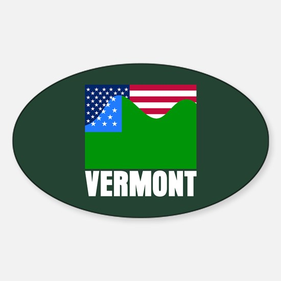 VERMONT - SECEDE? Oval Decal