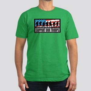 Support our troops - Infantry Men's Fitted T-Shirt