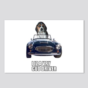 LOL Beagle Driver Postcards (Package of 8)