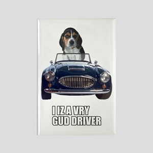 LOL Beagle Driver Rectangle Magnet