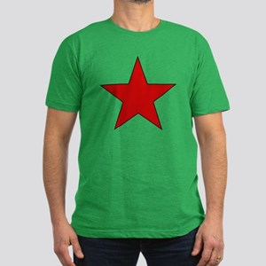 Red Star Men's Fitted T-Shirt (dark)