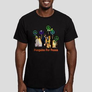 Penguins For Peace Men's Fitted T-Shirt (dark)