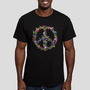 Butterflies Peace Sign Men's Fitted T-Shirt (dark)