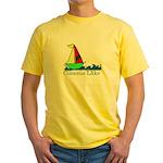 Sailboat - Conesus Lake Yellow T-Shirt