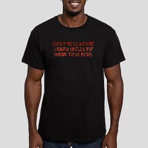 Penis Shrinking Spells Men's Fitted T-Shirt (dark)