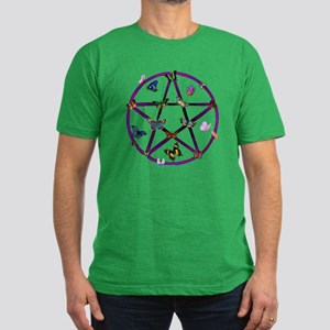 Wiccan Star and Butterflies Men's Fitted T-Shirt (