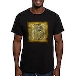 Celtic Letter B Men's Fitted T-Shirt (dark)