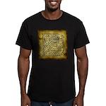 Celtic Letter E Men's Fitted T-Shirt (dark)