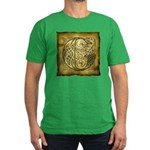 Celtic Letter G Men's Fitted T-Shirt (dark)