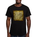 Celtic Letter H Men's Fitted T-Shirt (dark)